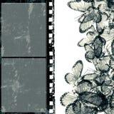 Marco de película del Grunge con el espacio para el texto o la imagen Imágenes de archivo libres de regalías