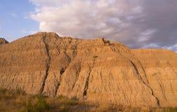 Alto maschio Ram Badlands Dakota delle pecore Bighorn del deserto dell'animale selvatico fotografia stock libera da diritti