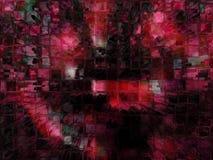 Alto modelo de los bloques huecos de la subida de Digitaces Fotos de archivo
