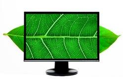 Alto monitor del ordenador de la definición Imagen de archivo libre de regalías