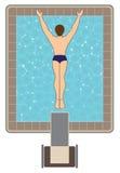 Alto operatore subacqueo Fotografia Stock