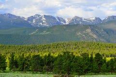Alto paesaggio alpino del parco nazionale splendido delle montagne rocciose, Colorado immagini stock libere da diritti