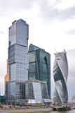 Alto paesaggio moderno del centro di affari a Mosca Fotografia Stock Libera da Diritti