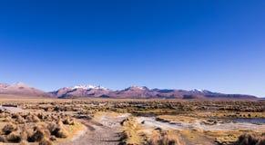 Alto paisaje andino de la tundra en las montañas de los Andes Fotografía de archivo