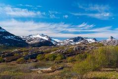 Alto passo di montagna norvegese Immagini Stock Libere da Diritti