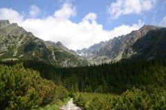 Alto percorso di Tatras Fotografia Stock Libera da Diritti