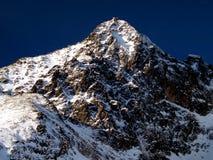 Alto picco di Lomnicky - di Tatras (2634 m) Immagini Stock