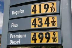 Alto precio de la gasolina Imagen de archivo