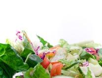 Alto primo piano chiave di insalata Immagini Stock Libere da Diritti