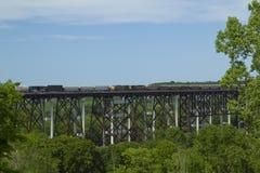 Alto puente de Kate Shelley Foto de archivo libre de regalías