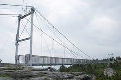 Alto puente de la milla en la montaña de abuelo, NC Fotos de archivo libres de regalías