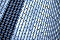 Alto punto di riferimento della torre di affari Fotografia Stock