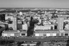 Alto punto di vista al centro di Varsavia Fotografie Stock Libere da Diritti