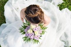 Alto punto di vista di una sposa Immagine Stock