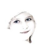 Alto retrato dominante de la muchacha fotos de archivo