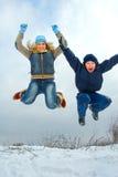 Alto salto Fotografie Stock Libere da Diritti