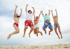 Alto salto Fotografie Stock