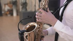 Alto Saxophone Artist Classical Jazz Musician Sax Concept. Alto Saxophone Artist Classical Jazz Musician Concept stock video footage