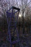 Alto sedile nell'inverno Fotografia Stock Libera da Diritti