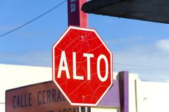 Alto sign Royalty Free Stock Images