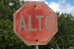 Alto signal  in the panamericana road II Stock Photos