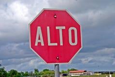 Alto signal  in the panamericana road Stock Image
