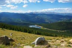 Alto sobre el lago echo, Colorado Foto de archivo libre de regalías