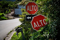 Alto or Stop signs royalty free stock images