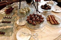 Alto tè: torte e biscotti Fotografia Stock