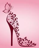 Alto tallone dalle belle farfalle Immagini Stock Libere da Diritti