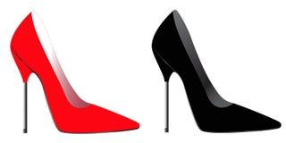 Alto tallone della parte posteriore & di colore rosso Fotografie Stock Libere da Diritti