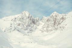 Alto Tatras nell'inverno Fotografie Stock