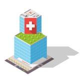 Alto-tecnologia isométrica do hospital Imagem de Stock