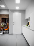 Alto-tecnologia Kitche do minimalismo de Gray White Urban Contemporary Modern ilustração do vetor