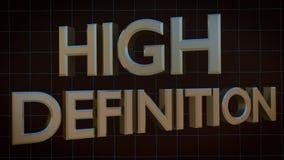 ALTO texto de la DEFINICIÓN 3D en rejilla digital azul Fotografía de archivo libre de regalías