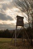 Alto tramonto del sedile Fotografia Stock Libera da Diritti