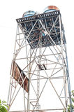 Alto vecchio serbatoio di acqua Fotografie Stock Libere da Diritti