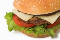 Alto vicino del cheeseburger Fotografia Stock Libera da Diritti