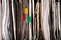 Alto vicino del documento fotografie stock libere da diritti