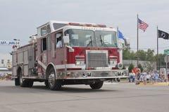 Alto vicino del Firetruck del motore 1112 di Pulaski Fotografie Stock Libere da Diritti