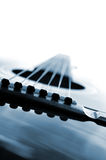 Alto vicino della chitarra Fotografia Stock