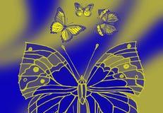 Alto vicino della farfalla illustrazione di stock