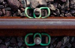 Alto vicino della ferrovia Fotografia Stock