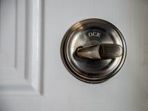 Alto vicino di chiavistello senza molla di scatto Fotografie Stock Libere da Diritti