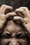 Alto vicino di depressione Fotografia Stock Libera da Diritti
