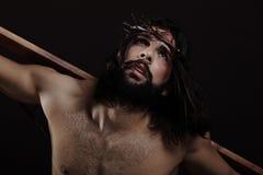 Alto vicino di Gesù Cristo Immagine Stock