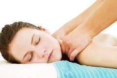 Alto vicino di massaggio Fotografia Stock