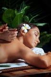 Alto vicino di massaggio Immagine Stock Libera da Diritti