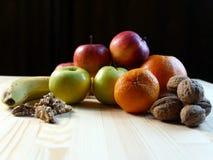 Alto vicino di vari frutti Immagini Stock