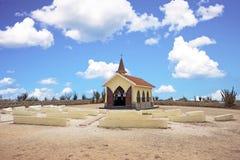 Alto Vista Chapel on Aruba in the Caribbean Stock Photography